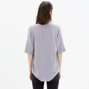 c682ce0374768 Madewell Tops - Madewell Silk Courier Shirt in Lavender Ice